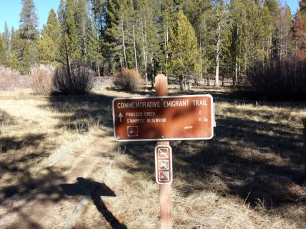 Emigrant trail at Cannibal Campground